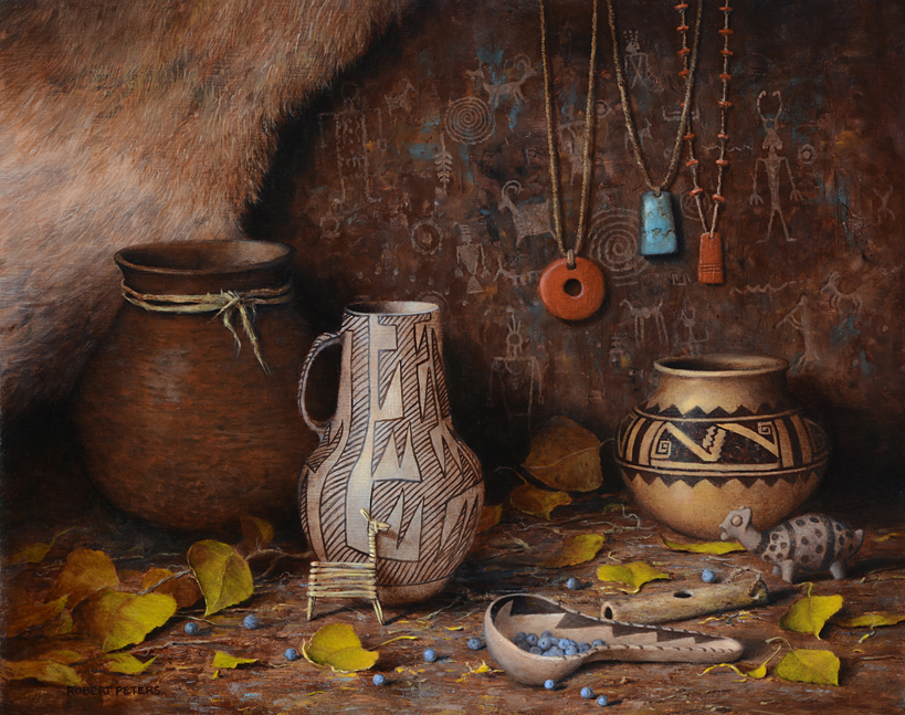 "Robert Peters ""Ancient Pueblo Life"" 16x20 oil - 2020 Prix de West"