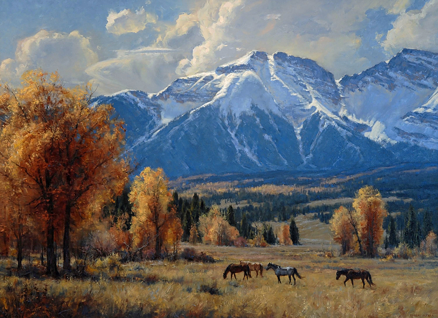 "Robert Peters ""Autumn Air"" 44x60 oil - Private Collection"