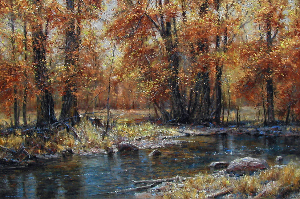 """Robert Peters """"Autumn's Veil"""" 40x60 oil on linen - private collection"""