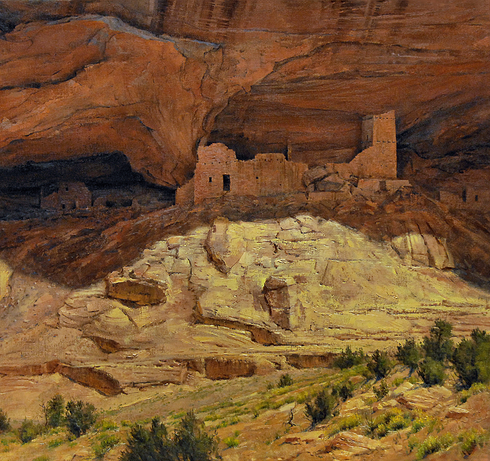 "Robert Peters ""Echoes in Stone"" 28x30 oil - Private Collection"