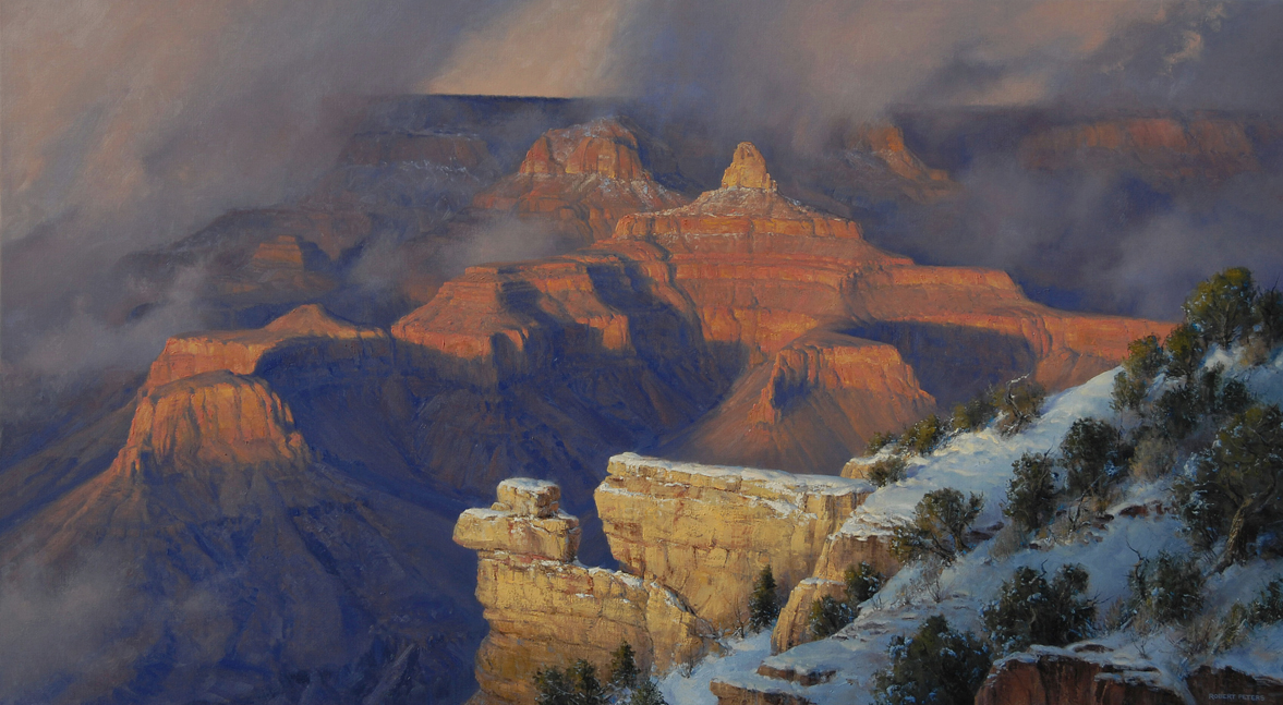 "Robert Peters ""March, Yavapai Point"" 48x72 - Private Collection"