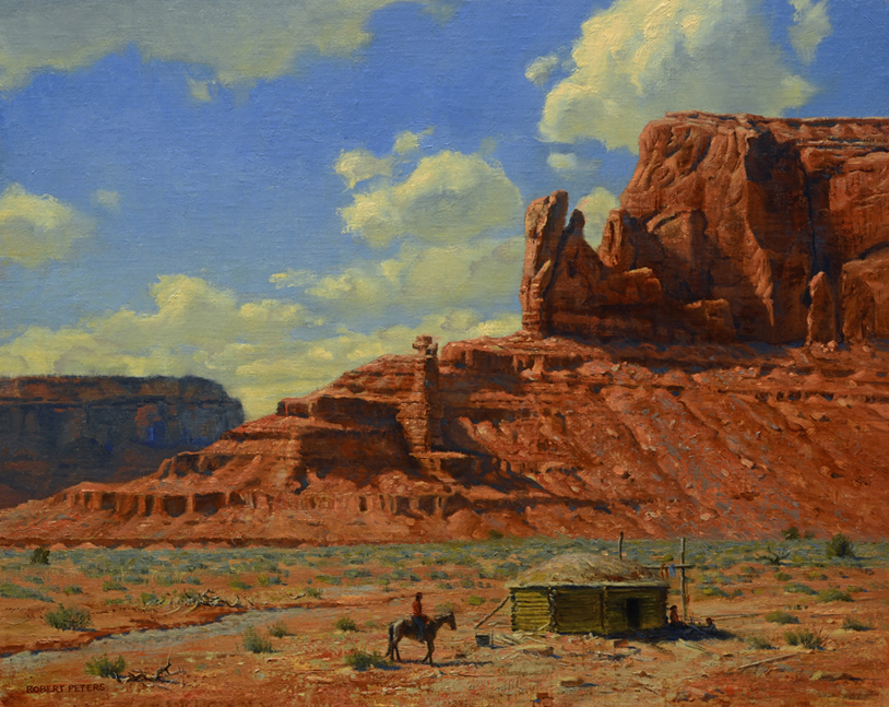 "Robert Peters ""Navajo Lands"" 16x20 oil - Private Collection"