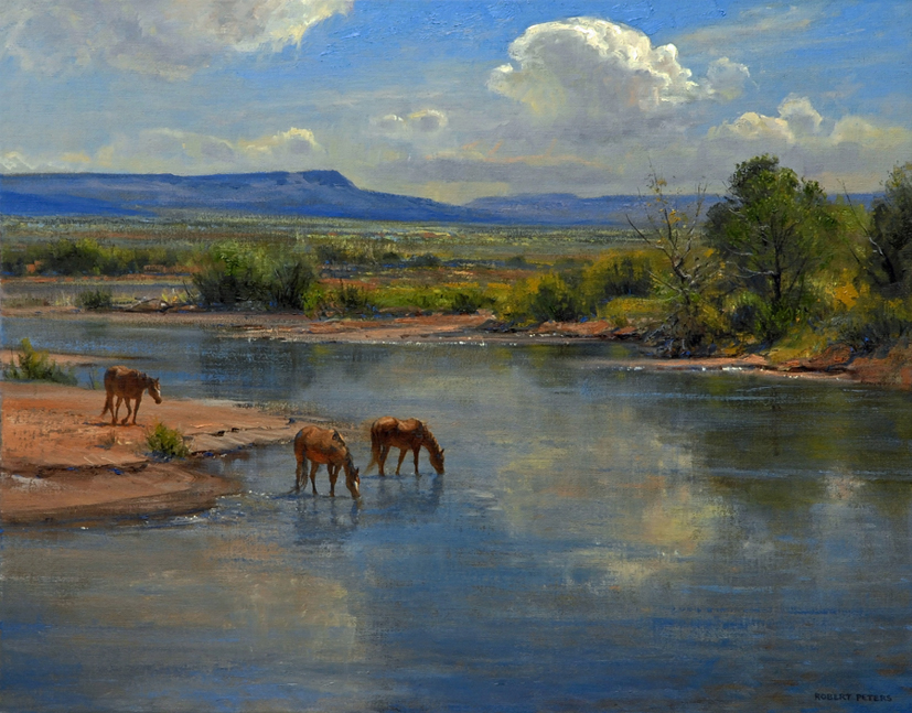 "Robert Peters ""On the Little Colorado"" 22x28 oil - Private Collection"