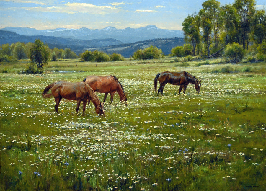 """Robert-Peters """"Amid Summer Blooms"""" 44x60 oil on linen - Private Collection"""