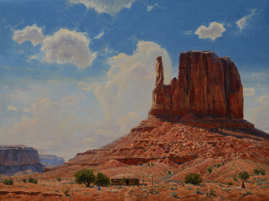 "Robert Peters ""Diné Bikéyah, The Peoples Land"" 30x40 oil - Private Collection"