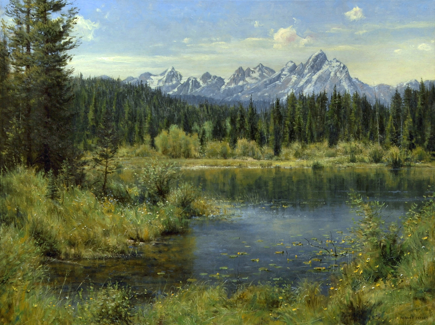 """Robert Peters """"Spring Into Summer"""" 30x40 oil on linen - Private Collection"""