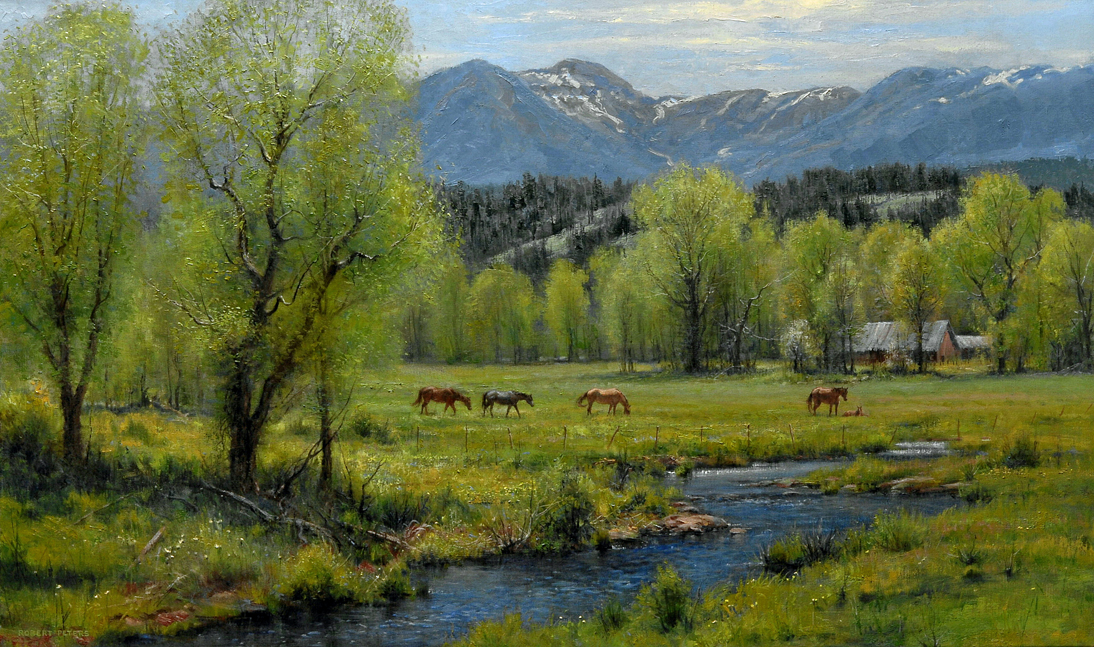 "Robert Peters ""Springtime Treasures"" 30x50 - private collection"