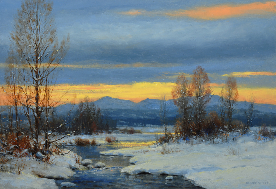 """Robert Peters """"The Twilight Hour"""" 18x26 oil on linen - private collection    private-collection"""