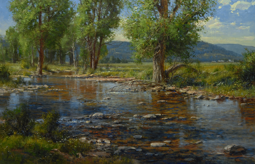 """Robert-Peters  """"Wandering Shallows"""" 36x56 oil - private collection"""