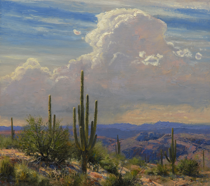 "Robert Peters ""Sonoran Afternoon"" 18x20 oil - Private Collection"