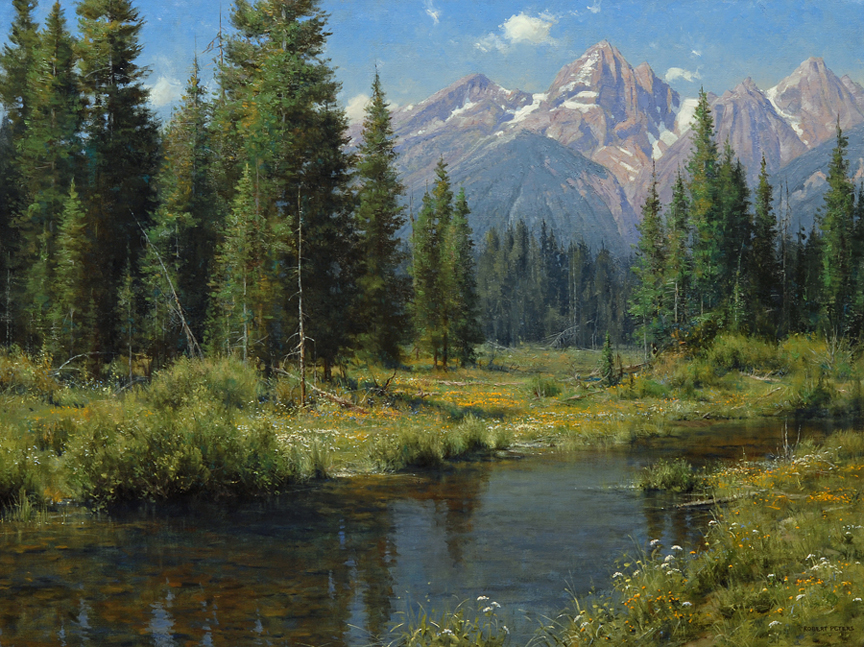 "Robert Peters ""Sweet Day of Summer"" 30x40 oil - Private Collection"