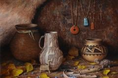 """Robert Peters """"Ancient Pueblo Life"""" 16x20 oil - 2020 Prix de West"""