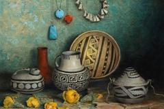 "Robert Peters ""Ancestral Array""16x20 oil on linen - Settlers West Galleries"