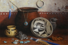 """Ancestral Hues"" 16x20 oil - 2020 Eiteljorg Museum"