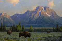 """""""Giants of the West"""" 30x40 oil - Private Collection"""