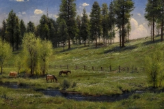 """Robert Peters """"Hillside in May"""" 36x56 oil - Private Collection"""