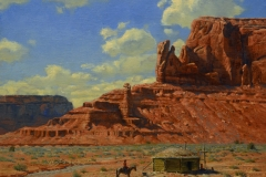 """""""Navajo Lands"""" 16x20 oil - Private Collection"""