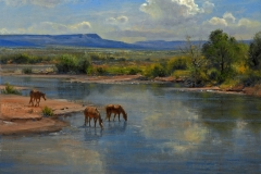"""""""On the Little Colorado"""" 22x28 oil - Private Collection"""