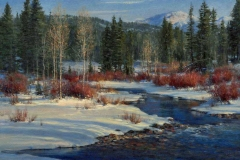 "Robert Peters ""Rhythm of Winter"" 20x24 oil - Private Collection"