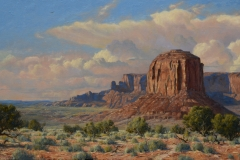 """Robert Peters """"Rough and Wide""""  28x50 oil - Private Collection"""