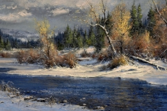 "Robert Peters ""Seasons Change"" 24x40 oil - Private Collection"