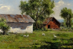 """""""Summer Geese"""" 20x30 oil - Private Collection"""