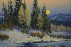 """""""The Crow Moon"""" 30x36 oil - Private Collection"""
